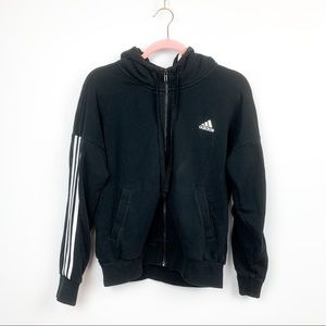 Classic Adidas Zip-Up Hooded Sweater
